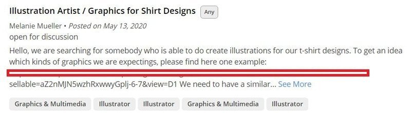 Design t-shirts for other people as a side hustle